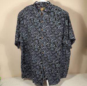 Men's Caribean Short Sleeve Shirt Navy Blue Sz 3XT